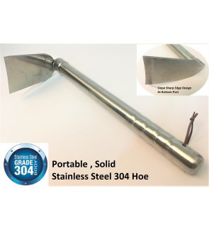 High Quality Stainless Steel Grade 304 Plantation Hoe (Cangkul) 40cm x 15cm x 8 cm