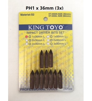 PH1 x 36mm (3x) King Toyo Impact Driver