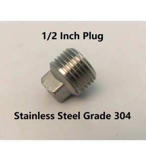 1/2 Inch Male Thread Plug Stainless Steel Grade 304 Pipe Fitting