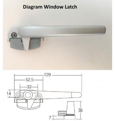 Silver Colour Window Handle Latch /Lock