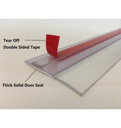 Transparent Clear Door Seal Strip With Strong Adhesive Arcylic Double SIded Tape.