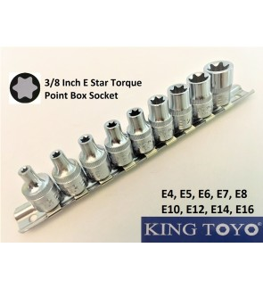 "3/8""( Inch) E-Star Torque Point Box Socket For Mechanical Car, Machinery Repairing Usage"