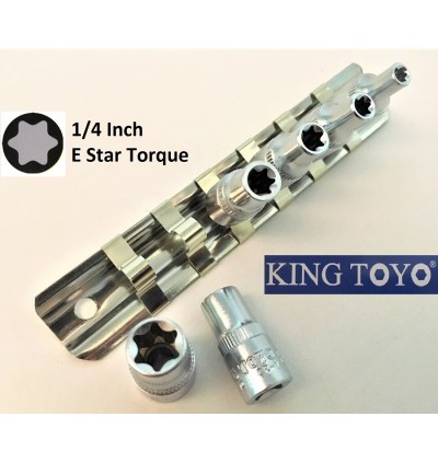 "1/4""( Inch) E-Star Point Torque Box Socket For Mechanical Car, Machinery Repairing Usage"