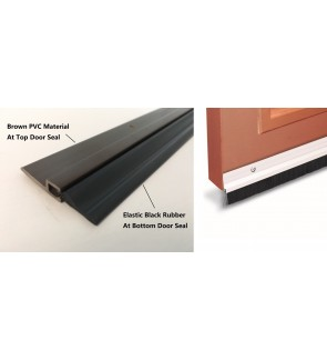 Black Rubber Door Seal Strip With Strong  Double SIded Tape.