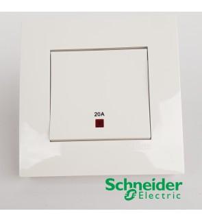 Schneider Vivace Double Pole 20A Switch 1 Gang