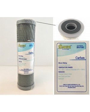 Taiwan Water Filter CTO Carbon Cartridge 5 Micron For Water Treatment Filteration System