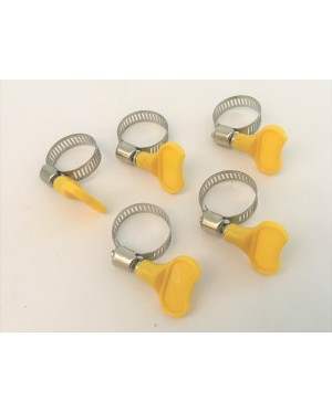 5pcs Stainless steel Hose Clip with Plastic Handle