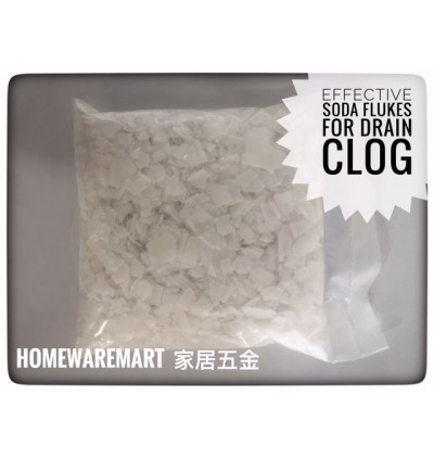 SODA Flakes 1kg for Unclog Pipe Drain and Kitchen Sink Clog