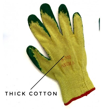 Rubber Latex Cut Resistance Hand Gloves For Constuction , Glass Handling , Gardening