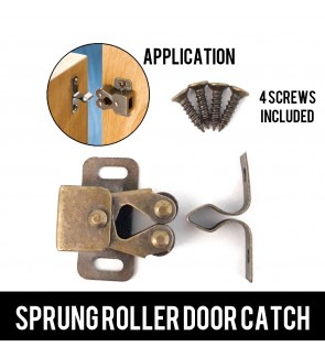 2 pairs  Spring Roller Door Catch For Cabinet, Cupboard, Wardrobe Latch