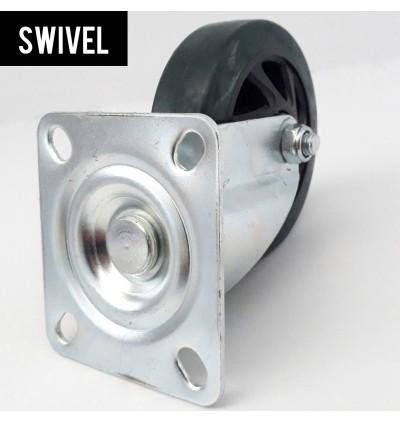 Super Heavy Duty 300kg Hand Truck 5Inch Swivel / Rigid PU Wheel Replacement