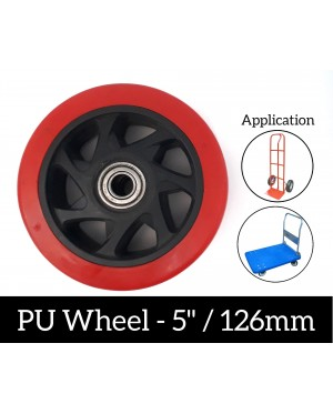 Super Heavy Duty Solid Industrial 5 Inch PU Wheel For Trolley