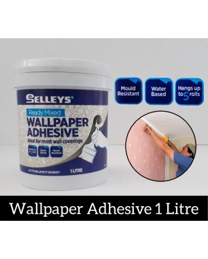 Selleys Ready Mix Wallpaper Adhesive / Glue 1 Litre
