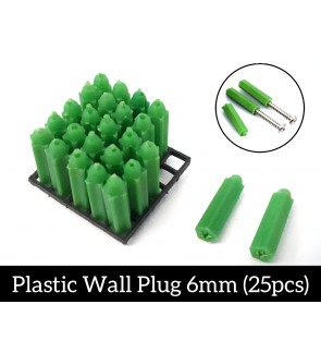 Plastic Wall Plug 6mm 25pcs Wall Plug