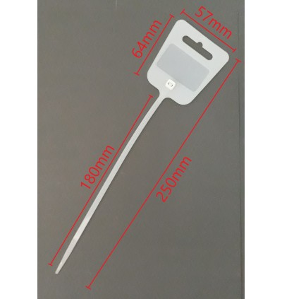 10pcs 10Inch White Cable Tie With Label Tag For Stock Label Indicator