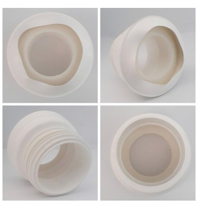 4 Inch WC Pan Toilet Bowl Straight Connector (100mm) For Bathroom Accessories