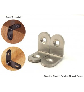 Super Solid Thick Stainless Steel SS304 L Bracket Round Corner For Furniture Hardware