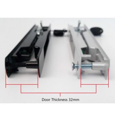 Heavy Duty Sliding Window Door Lock Flush Lockset 32mm Thickness