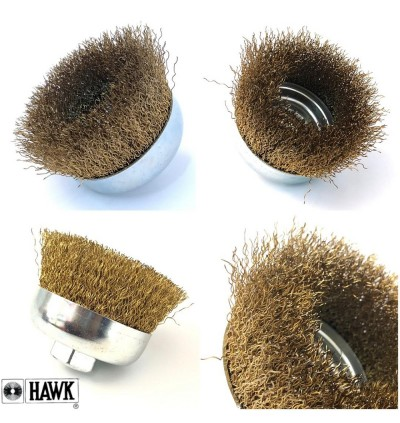 Heavy Duty Industrial Usage Hawk Wire Cup Brush (ECO) For Metal Welding Surface, Removal Of Slag, Rust, Burrs