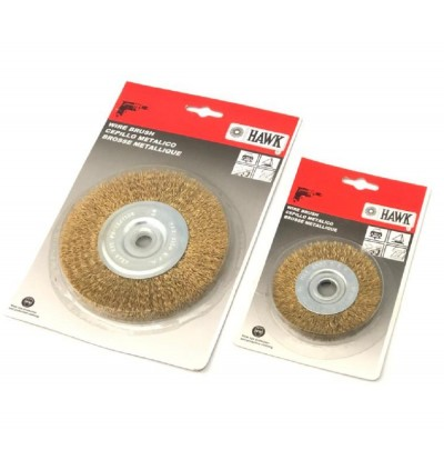 Bore Wheel Brush Brass Coated Wire For Metal Welding Surface, Removal Slag Burrs