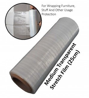 Medium Transparent Stretch Film For Wrapping Furniture, Stuff And Other Usage Protection