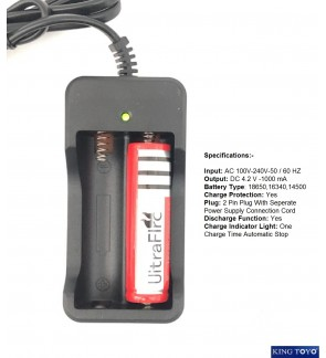 Fast Charging Battery Charger For 3.7V/4.2V 18650 Battery 100-240VAC Charger Only