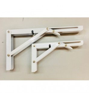 2 Pieces Solid Foldable And Adjustable L Bracket Set For Decoration Board/ Wood