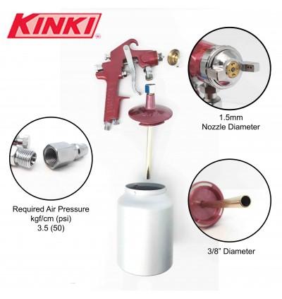 Kinki Paint Air Spray Gun With Cup For Automotive Car Sector