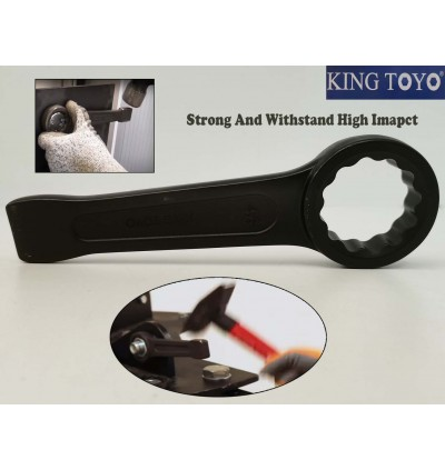 King Toyo Heavy Duty Solid Wall Slogging Ring Wrench For Tightening OR Loosening in Automotive Industrial Sector
