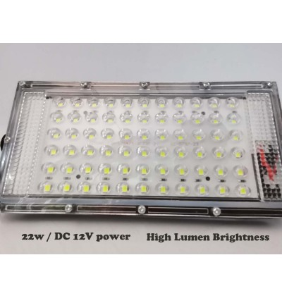Strong Durable 22W LED Flood Light DC 12V Battery For Outdoor Event, Night Market