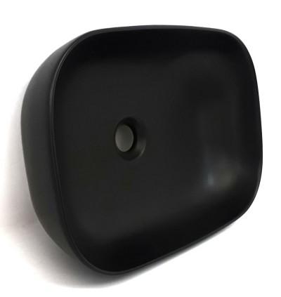 Elegant Matt Black Ceramic Art Basin For Above Counter Mounting