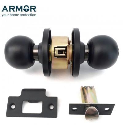 Armor Heavy Duty Stainless Steel Matt Black Cylindrical Lock Door Lock Handle