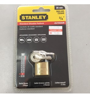 Stanley 20mm luggage Padlock