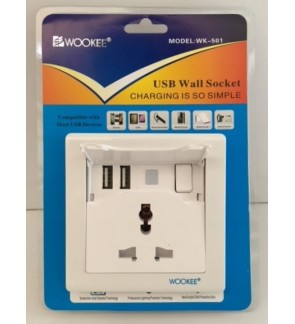 Promark 2 USB Wall Socket