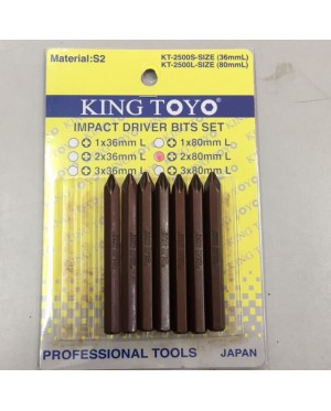 King Toyo Impact Driver Bit PH2 x 80mm(1x)