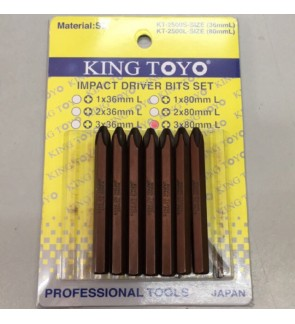 PH3 x 80mm(1x)King Toyo Impact Driver
