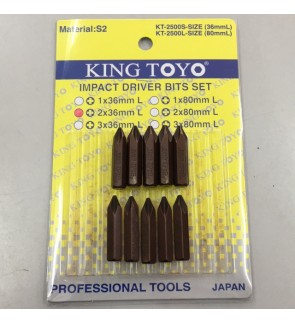 PH2 x 36mm (3x) King Toyo Impact Driver