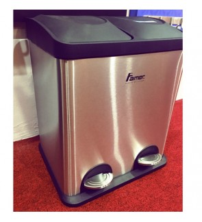 Faimer Double stainless steel Dustbin