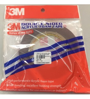 3M Super Heavy Duty 10mm x 8M Double sided Tape