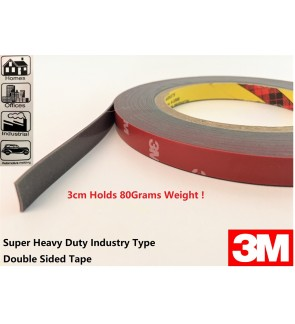 3M Original Super Heavy Duty Industrial Double sided Tape For Industrial , Car Plate , Wall Usage.