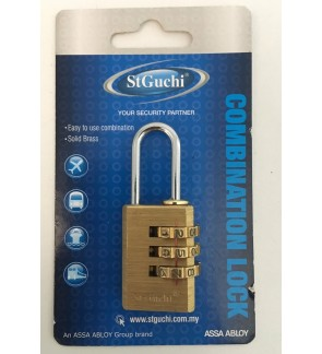 St Guchi Brass Combination Luggage Lock