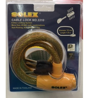 Solex Motorcycle and Bicycle Lock