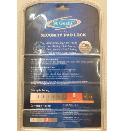 St Guchi Brass Padlock 40mm Key Alike 2pcs(2x)