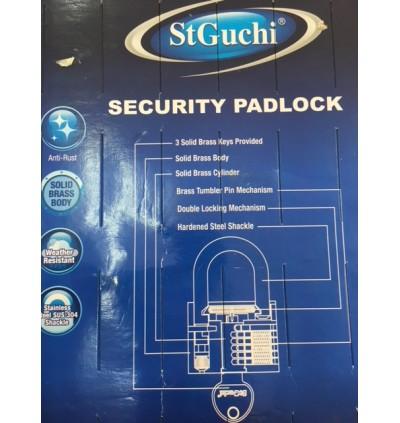 St Guchi Brass Padlock 40mm Key Alike 3pcs(3x)