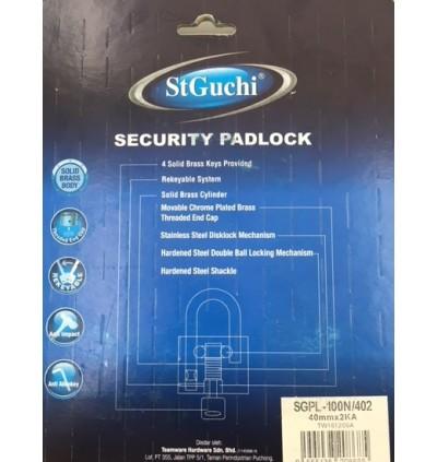 St Guchi Brass Chrome Padlock 40mm Padlock 2pcs