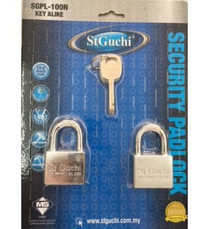 St Guchi Brass Chrome Padlock 40mm Padlock 2pcs