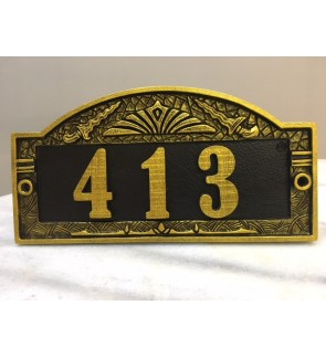 Antique House Plate Number (Majestic Style)