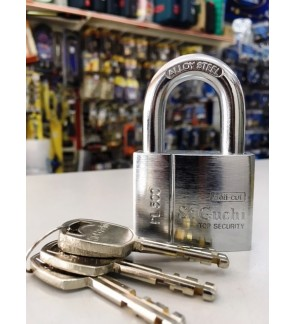 St Guchi Brass Chrome Anti Cut Padlock 50mm