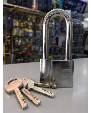 St Guchi Brass Chrome Long Shackle Padlock 50mm