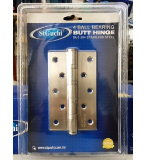 "St Guchi Super Heavy Duty 5"" Stainless Steel 4 Ball Bearing Hinges"